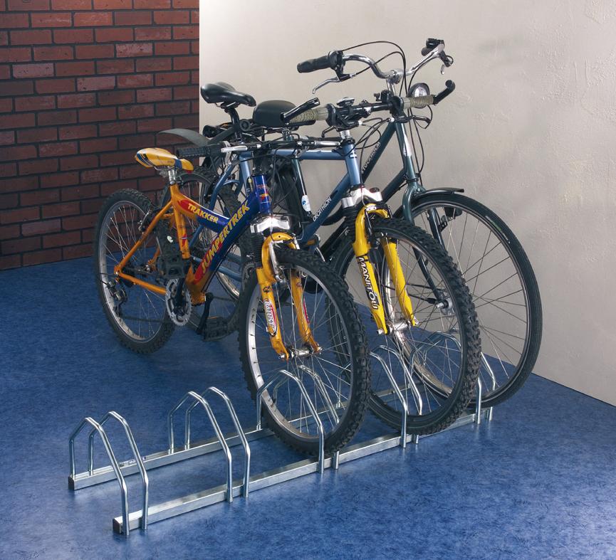 Soporte suelo 5 bicicletas tiendas ibi for Soporte para bicicletas suelo
