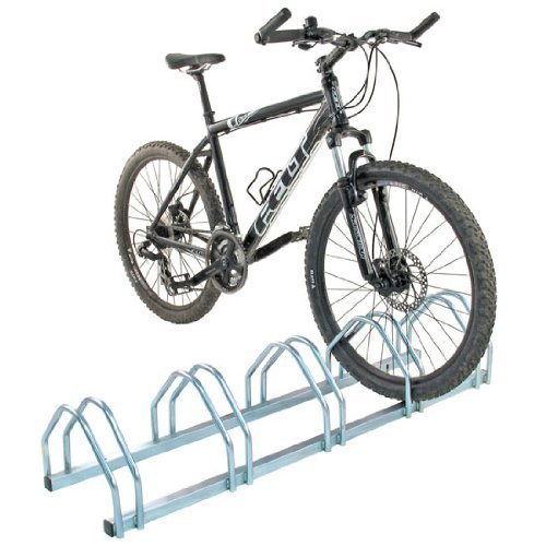 Mottez aparcabicis suelo 5 bicicletas tiendas ibi for Soporte para bicicletas suelo