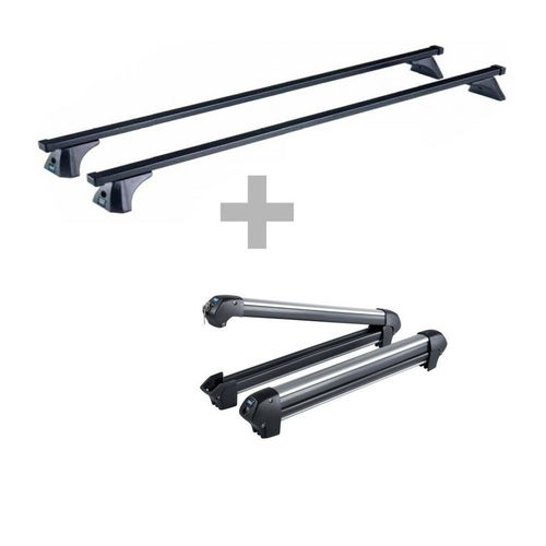 Kit barras de techo CRUZ O-PLUS + Portaesquís Ski-Rack 6