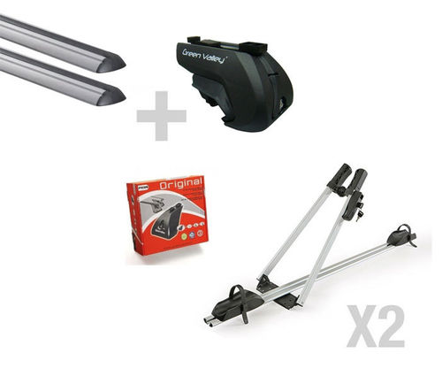 KIT Barras de techo + portabicis ADVENTURE PRO